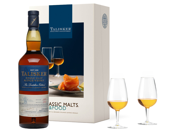 COFFRET MALTS AND FOOD WHISKY TALISKER THE DISTILLERS EDITION