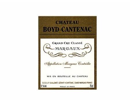 CHÂTEAU BOYD CANTENAC rouge 2004 , Troisième Cru Classé en 1855
