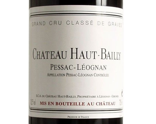 CHÂTEAU HAUT-BAILLY red 2001, Classified Growth of Graves