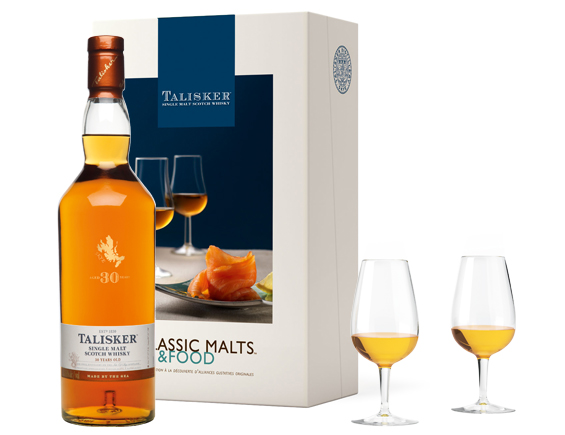 COFFRET MALTS AND FOOD WHISKY TALISKER 30 ANS