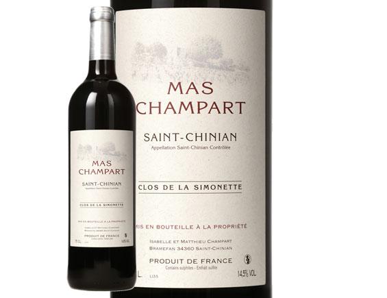 MAS CHAMPART SAINT-CHINIAN CLOS DE LA SIMONETTE ROUGE 2016