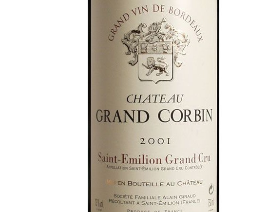 CHÂTEAU GRAND CORBIN 2001