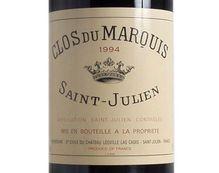 CLOS DU MARQUIS rouge 1994, Second vin du Château Léoville Las Cases