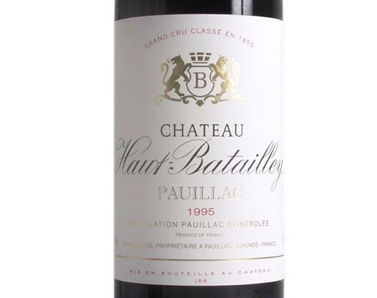 CHÂTEAU HAUT-BATAILLEY rouge 1995, Cinquième Cru Classé en 1855