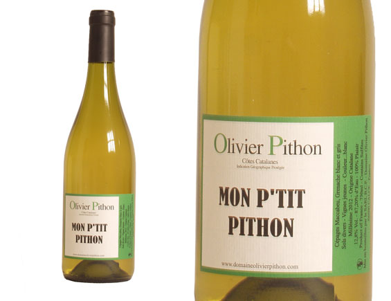 DOMAINE OLIVIER PITHON MON P'TIT PITHON BLANC 2015
