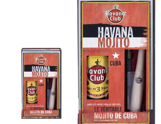 RHUM HAVANA CLUB 3 ANS COFFRET MOJITO