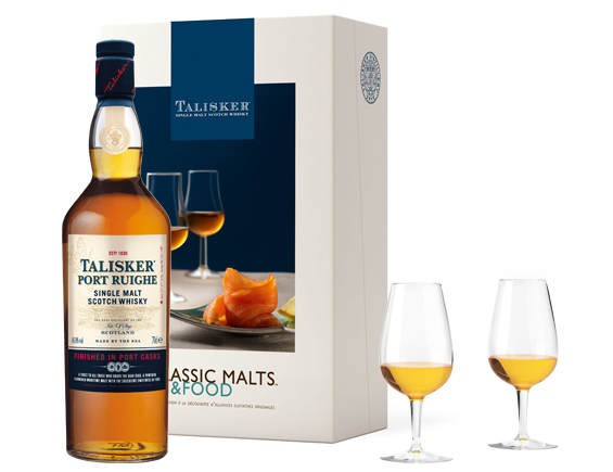 COFFRET MALTS AND FOOD WHISKY TALISKER PORT RUIGHE ETUI
