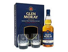 WHISKY GLEN MORAY COFFRET CLASSIC + 2 VERRES