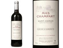 MAS CHAMPART SAINT-CHINIAN CLOS DE LA SIMONETTE ROUGE 2014
