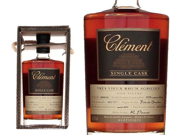 RHUM CLÉMENT SINGLE CASK 100% CANNE BLEUE- ETUI