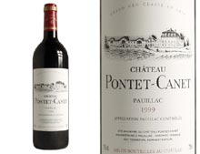 CHATEAU PONTET- CANET rouge 1999