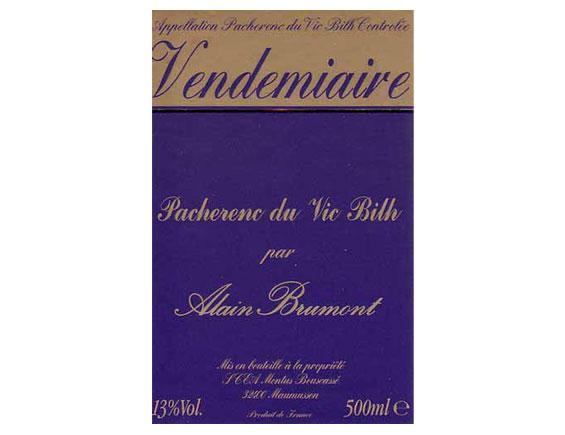CHÂTEAU BOUSCASSÉ VENDEMIAIRE Pacherenc du Vic Bilh blanc doux 2001
