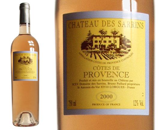 CHÂTEAU  DES SARRINS CÔTES DE PROVENCE rosé 2000
