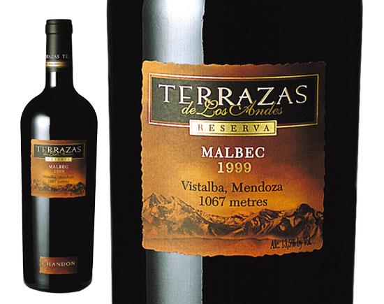 Terrazas De Los Andes Reserva Malbec Red 1999
