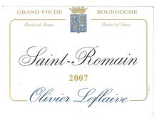 OLIVIER LEFLAIVE Saint Romain 2007 Blanc