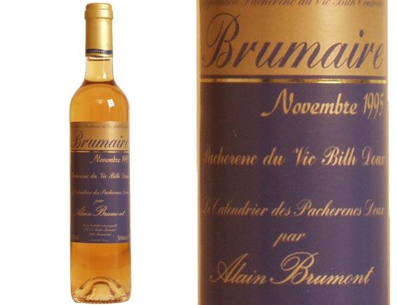 Domaine Alain Brumont Château Bouscassé Brumaire Pacherenc du Vic Bilh blanc doux 1995